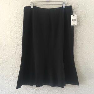 Nicole By Nicole Miller Black Career Skirt 10 NWT